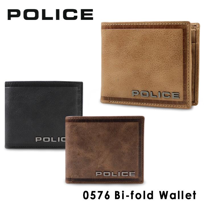 ポリス 二つ折り財布 PA58000 (0576) POLICEエッジ 財布 メンズ [PO10][bef]