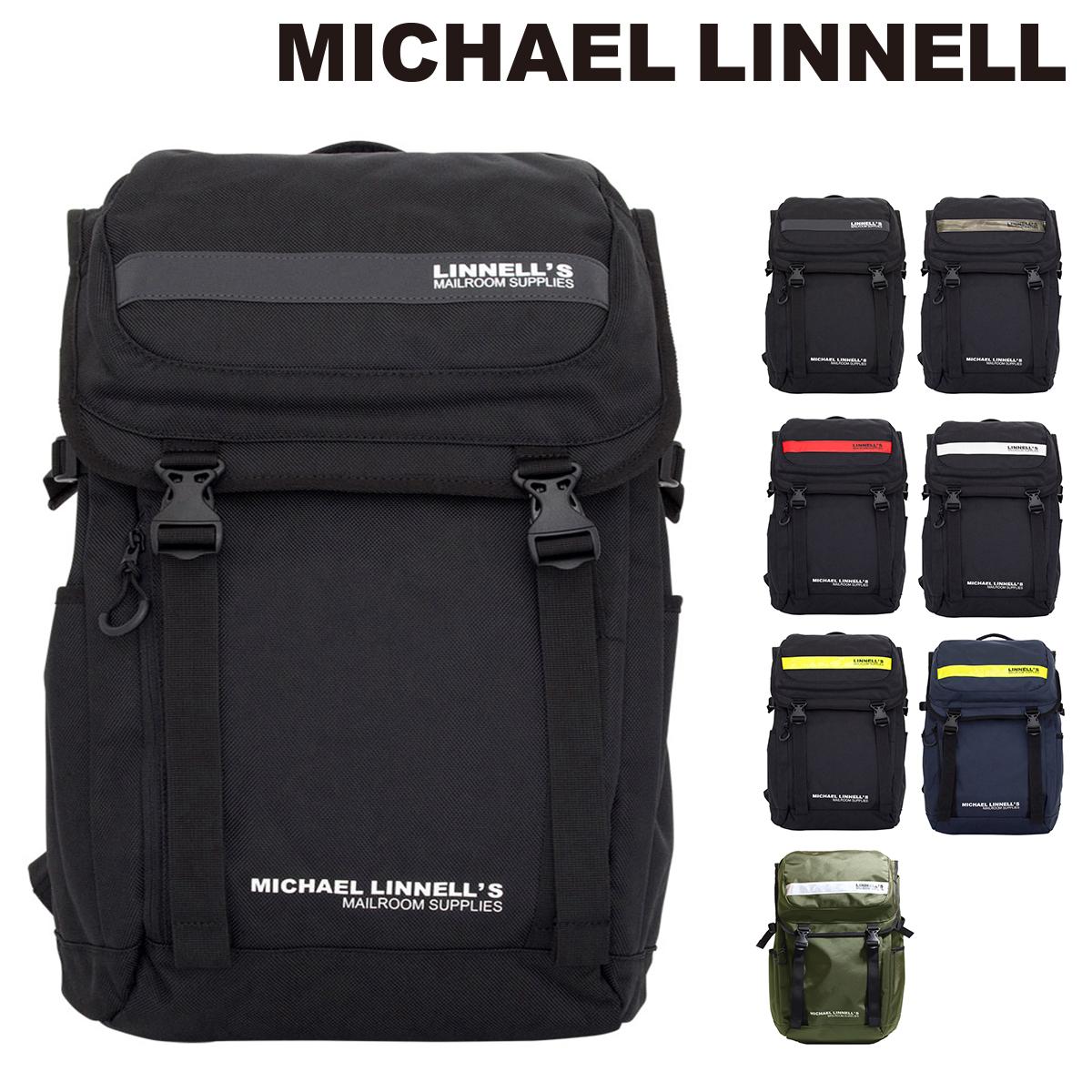 マイケルリンネル MICHAEL LINNELL リュック ML-018 【 リュック リフレクター ダブルバックル 大容量27L 】【PO10】【bef】【即日発送】