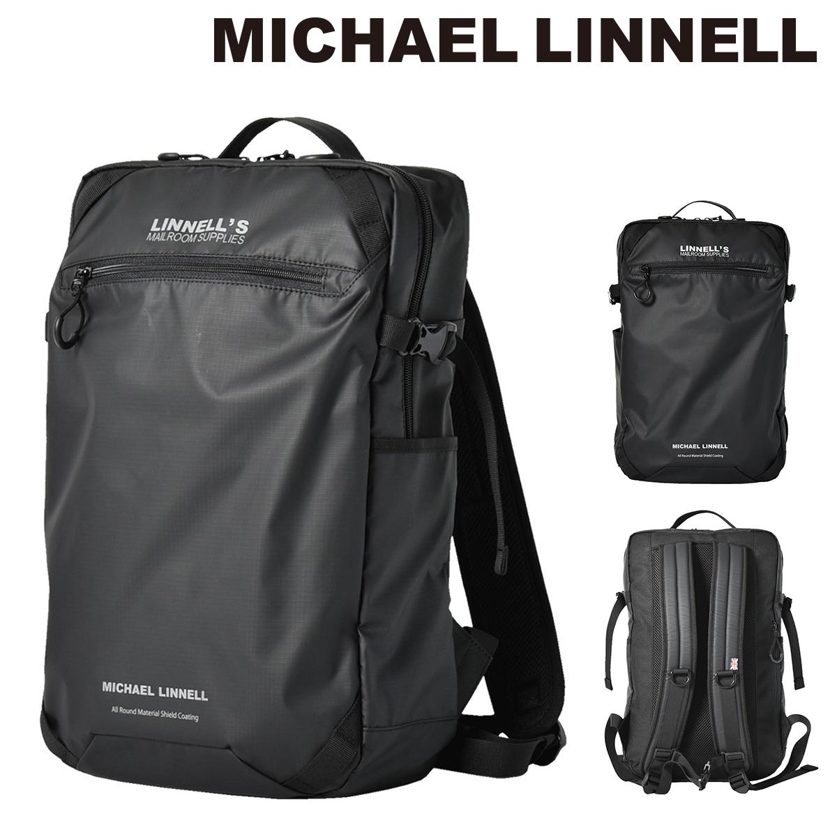マイケルリンネル リュック スクールバッグ 24L メンズ MLAC-07 MICHAEL LINNELL | リュックサック バックパック スクエア ナイロン[bef][PO10]