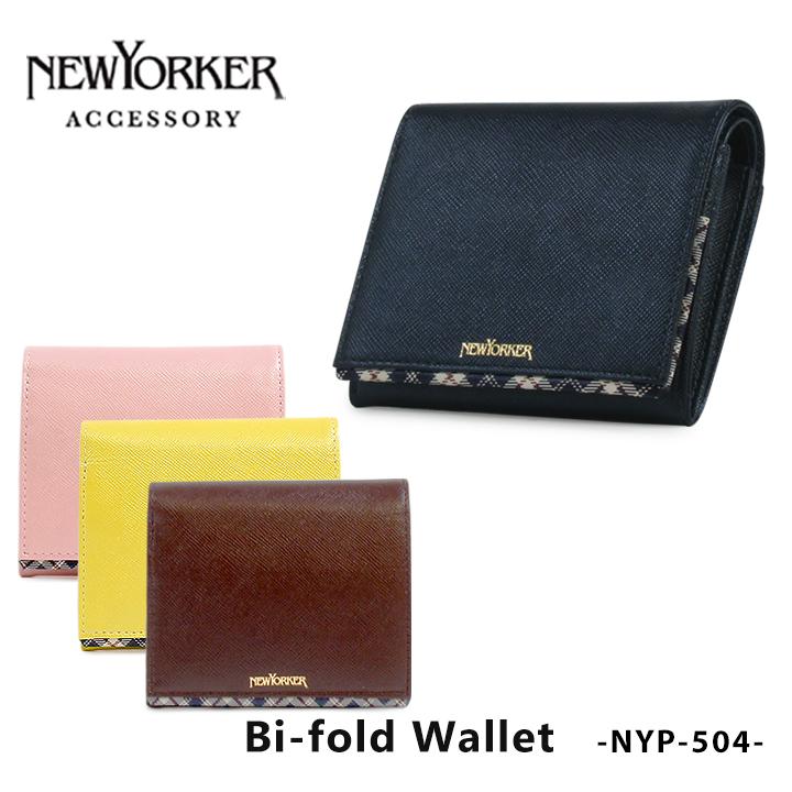 ニューヨーカー NEWYORKER 二つ折り財布 NYP-504 ライン 【 財布 レディース レザー 】[PO10][bef]