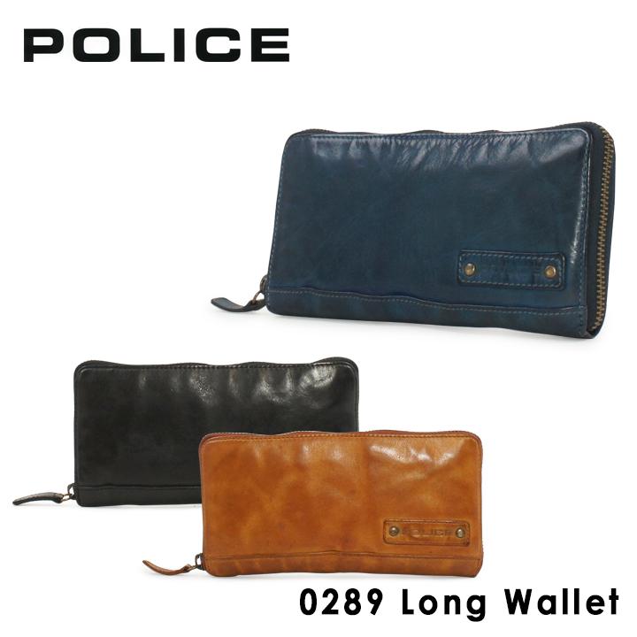 ポリス 長財布 PA59603 (0289) LAVARE ラヴァーレ POLICE札入れ コインケース カードケース メンズ ラウンドファスナー ウォッシュ加工 洗い加工 [PO10][bef]
