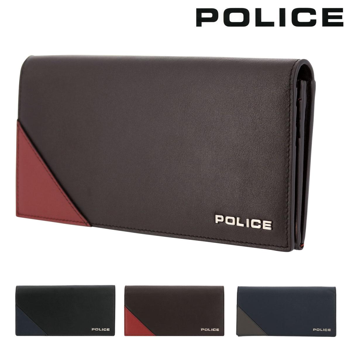 ポリス 長財布 アルバーノ メンズPA70102 POLICE | 本革 レザー ブランド専用BOX付き[bef]