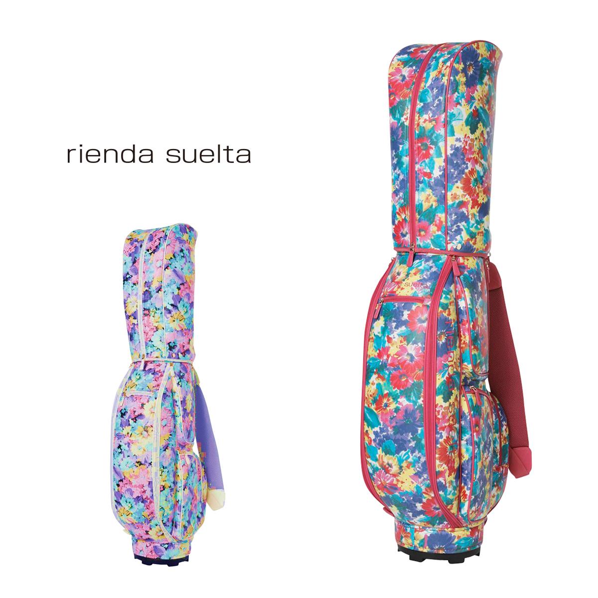 リエンダ スエルタ rienda suelta キャディーバッグ RS-01010021 SPRING FLOWER 1 【 ゴルフキャディーバッグ レディース 合成皮革 】[PO5][bef]