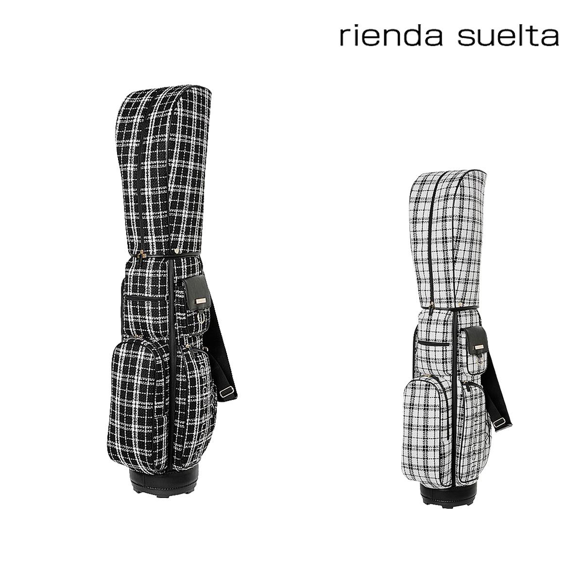 リエンダ スエルタ キャディーバッグ レディース ツイードチェック RS-91010001 rienda suelta ゴルフバッグ[bef]