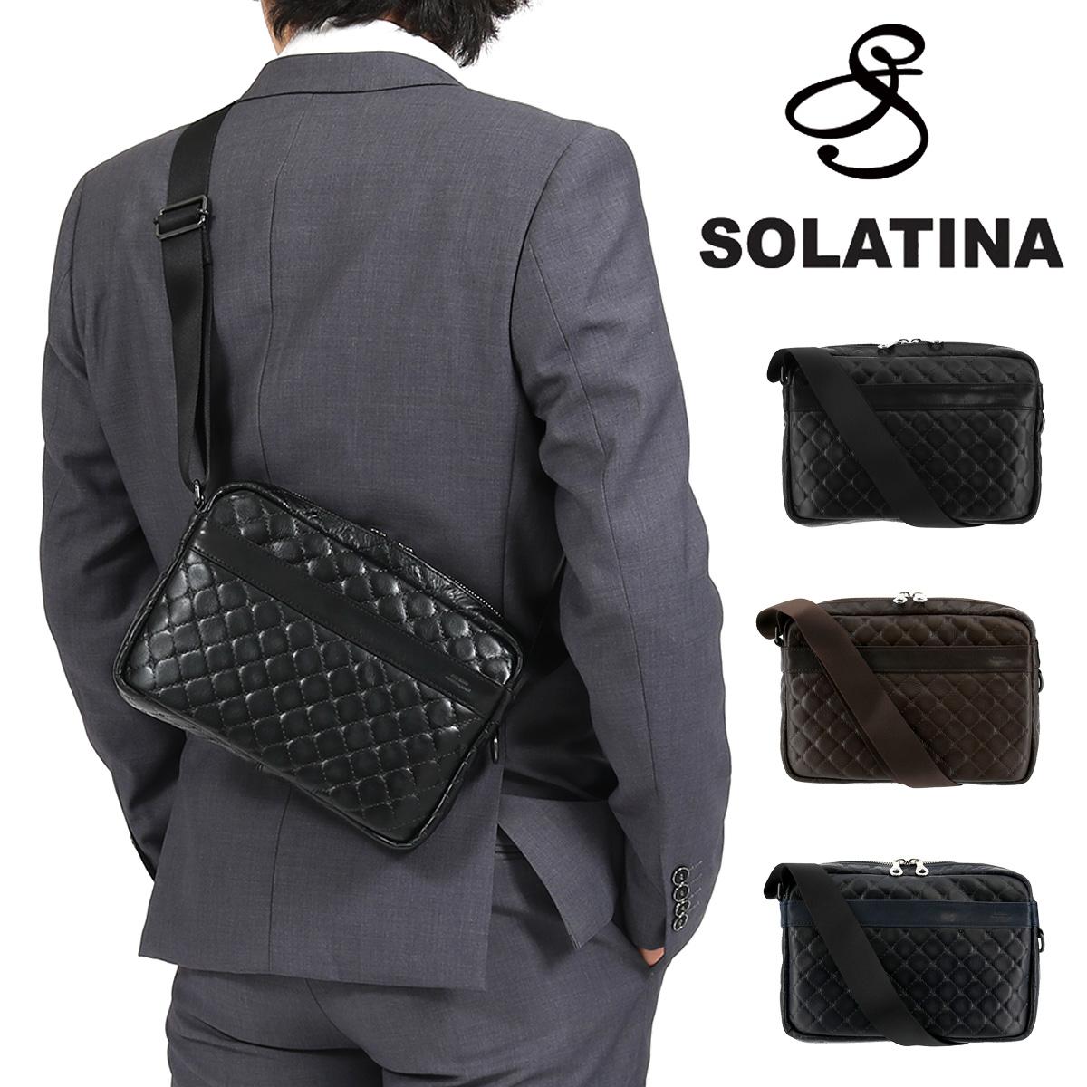 ソラチナ ショルダーバッグ キルト メンズ SJP-00902 日本製 SOLATINA | 本革 レザー [04/12]