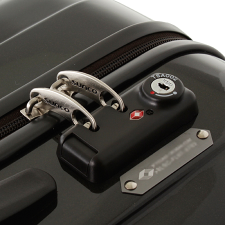 Sanko sunco suitcase WORLDSTAR ZIPPER model WSZA-57 gunmetal 57 cm