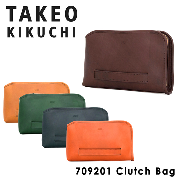 クラッチバッグ タケオキクチ アイビー メンズ 709201 日本製 TAKEO KIKUCHI セカンドバッグ ビジネスバッグ 本革 レザー キクチタケオ [PO5][bef]