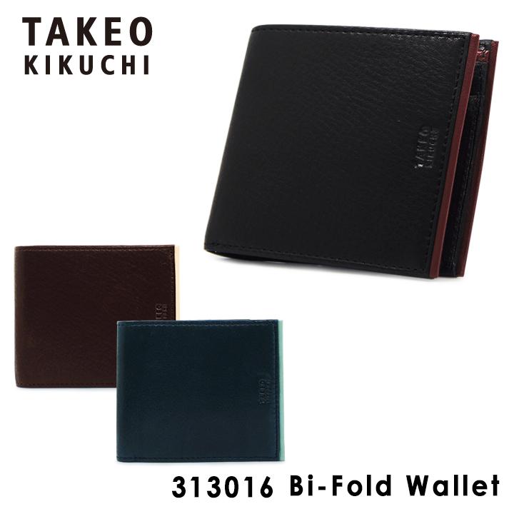 タケオキクチ 二つ折り財布 メンズ 折財布 ポロラックス ソフトレザーシリーズ 313016 TAKEO KIKUCHI [PO5][bef][即日発送]
