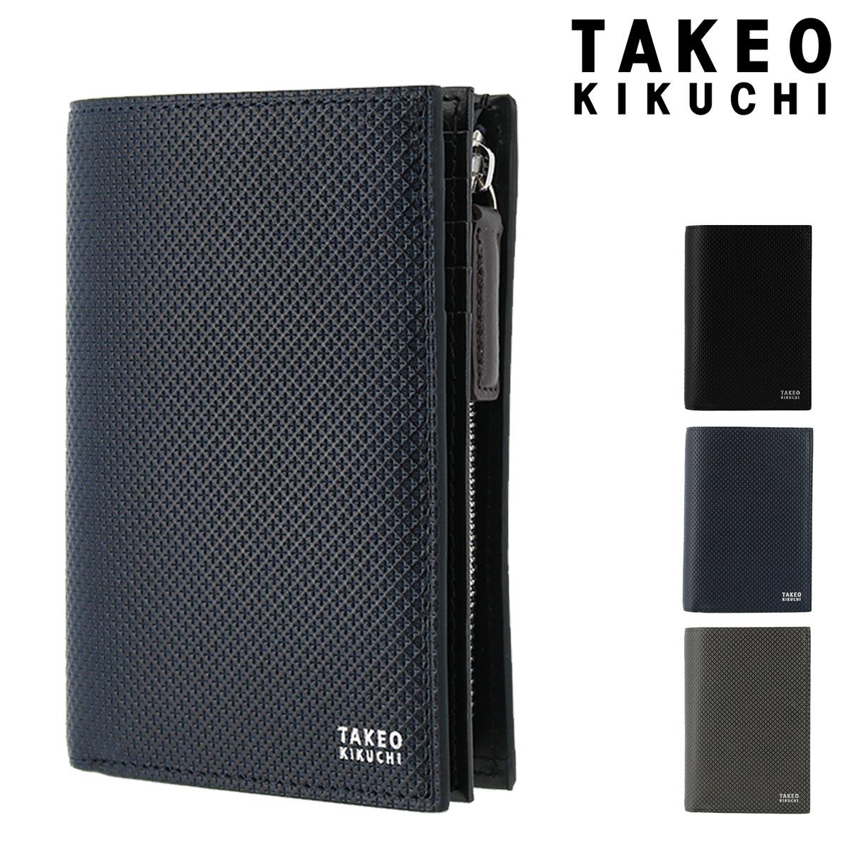タケオキクチ 二つ折り財布 L字ファスナー バース メンズ 706625 TAKEO KIKUCHI | 本革 レザー ブランド専用BOX付き[bef]