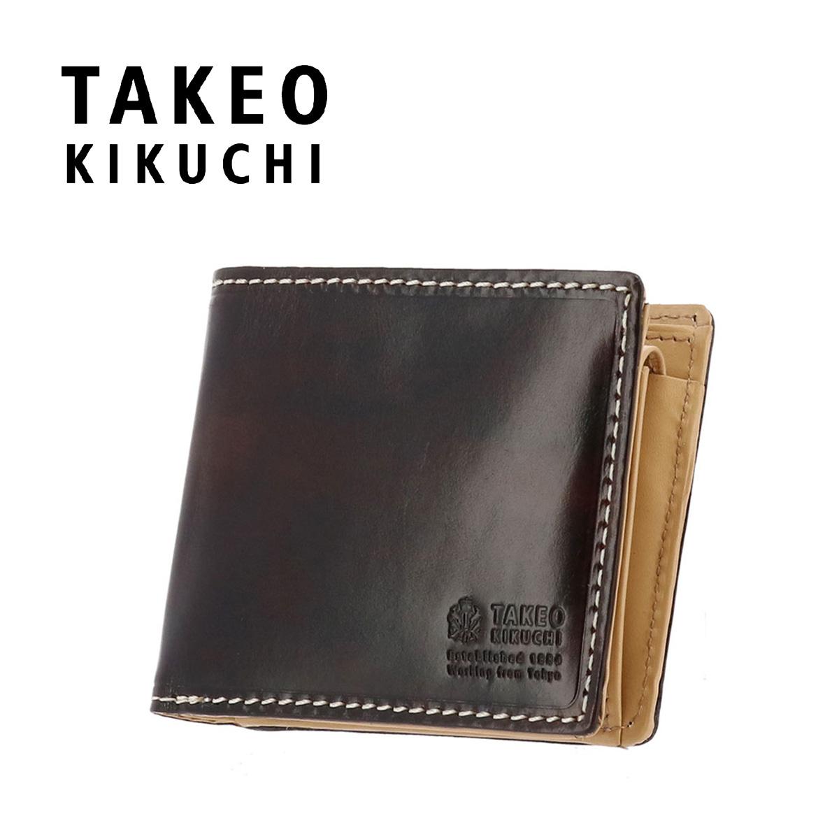 タケオキクチ 二つ折り財布 ハンド 728604 TAKEO KIKUCHI 牛革 メンズ【PO5】【bef】
