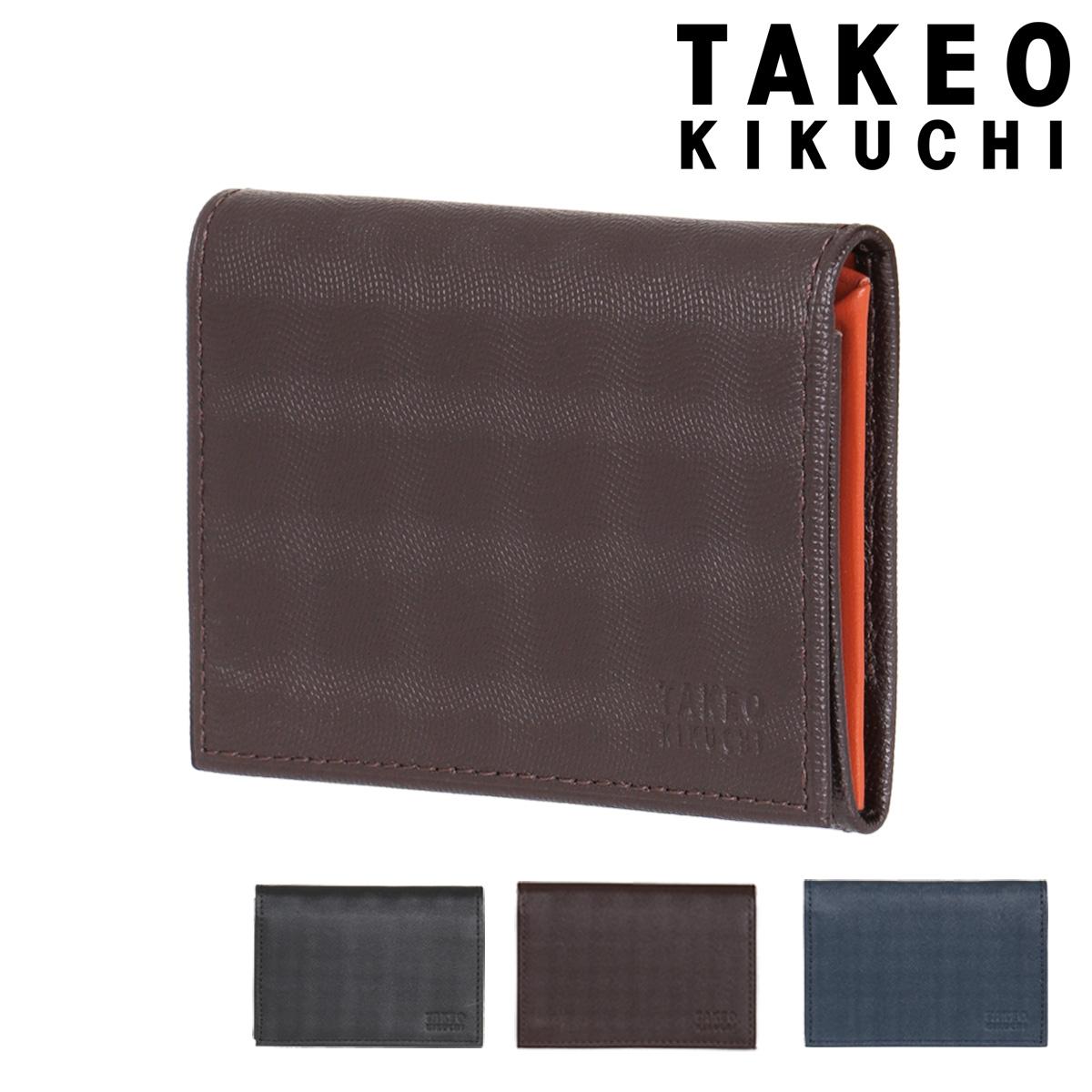 タケオキクチ 名刺入れ シェパード メンズ 784603 TAKEO KIKUCHI | カードケース 薄型 ブランド専用BOX付き 牛革 本革 レザー [PO5][bef]