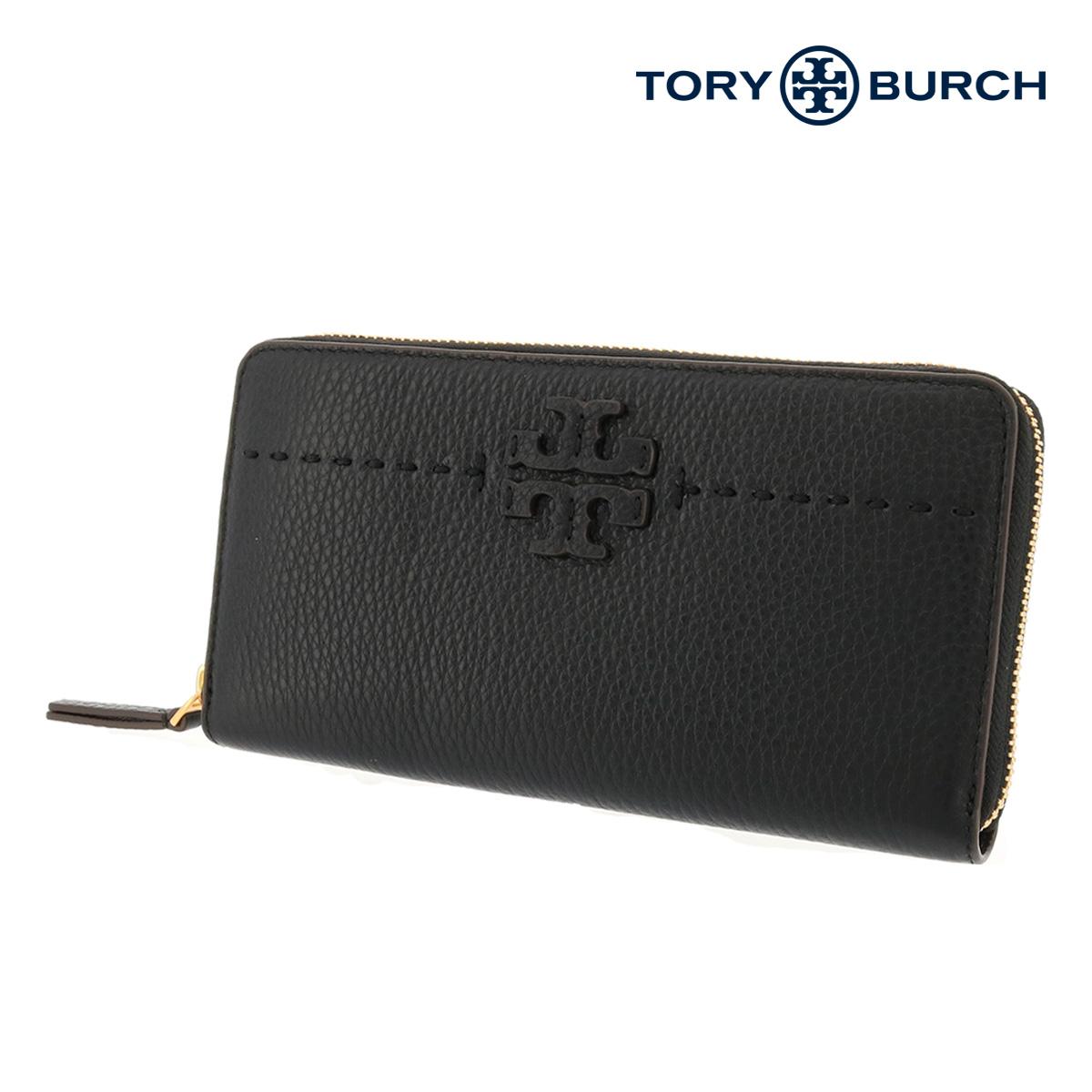 トリーバーチ 長財布 ラウンドファスナー レディース McGRAW 41847 TORY BURCH | 本革 レザー