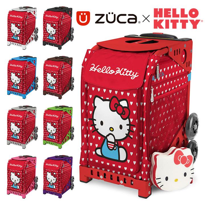 ズーカ キャリーケース レディース キャリーバッグ スーツケース スポーツ ハローキティ Hello Kitty レイバーオブラブ Labor of Love 142002 ZUCA 【ポーチ付き】[PO10][bef]