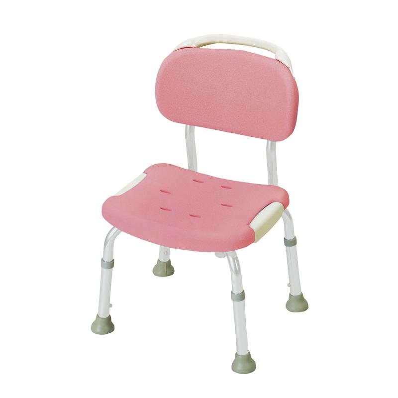 やわらかシャワーチェア 背付コンパクト ピンク(P) リッチェル Richell ライフケア用品 介護用品 福祉用具 入浴 風呂椅子 風呂イス