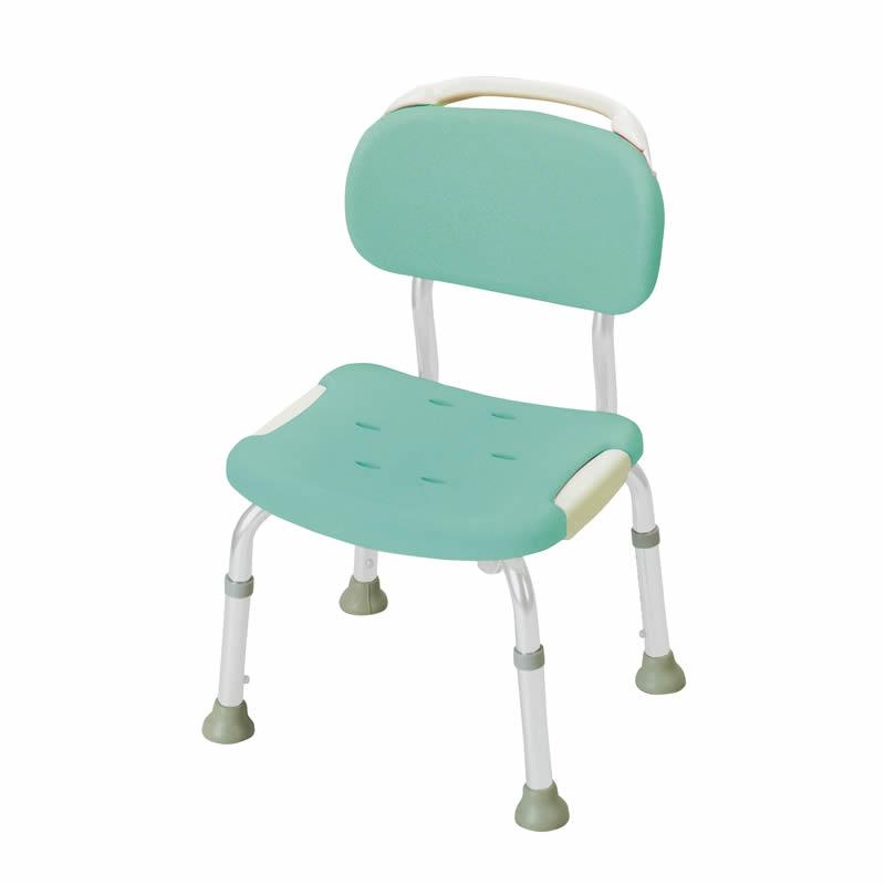 やわらかシャワーチェア 背付コンパクト グリーン(GR) リッチェル Richell ライフケア用品 介護用品 福祉用具 入浴 風呂椅子 風呂イス