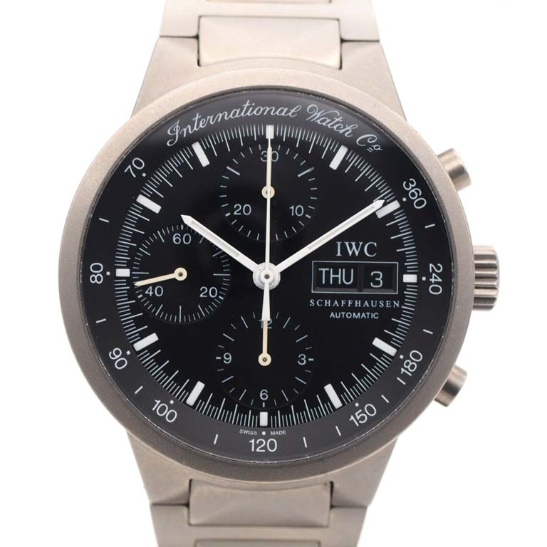 detailed look fc9d3 26ba6 IWC GST IW370703 chronograph titanium automatic car OH finished