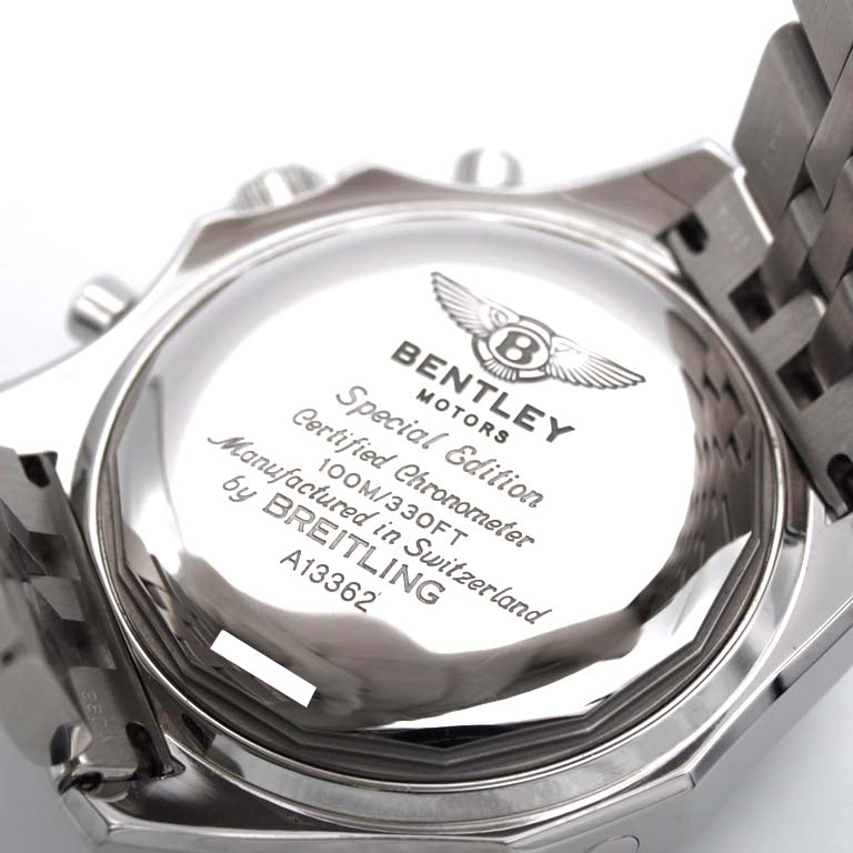 Rich Time Blight Ring Breitling Bentley Gt A13362 Chronograph Ss