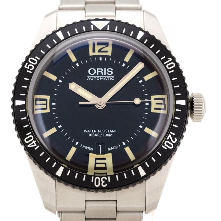 オリス ORIS ダイバーズ65 733 7707 4064-07 8 20 18  SS オートマ  【リッチタイム】【中古】