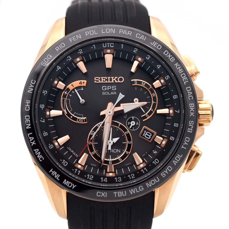セイコー SEIKO アストロン SBXB055 8X53-0AC0 GPS衛星電波 SS/ラバー クォーツ 【美品】 【リッチタイム】【中古】