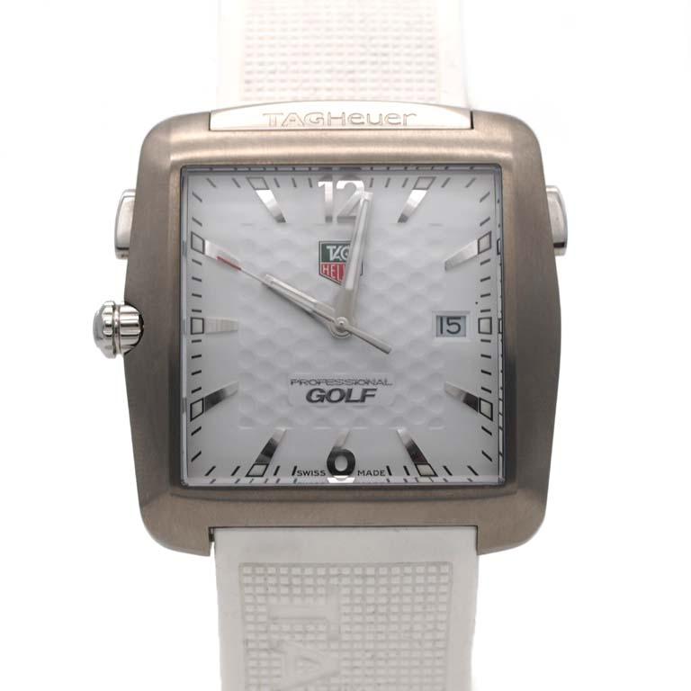 タグホイヤー Tagheuer Golf Watch Wae1112 Ft6008 Ss Rubber Quartz Professional Golf Watch Tiger Woods