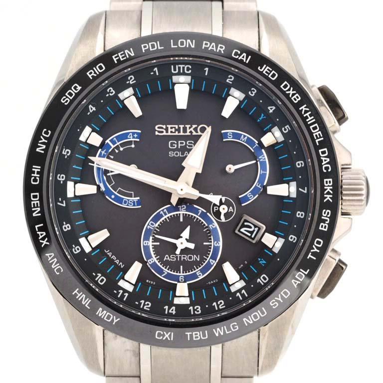 セイコー SEIKO アストロン SBXB101 8X53-0AS0 GPS衛星電波 チタン クォーツ  【リッチタイム】【中古】