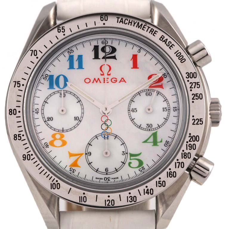 オメガ OMEGA スピードマスター 3836.70.36 クロノグラフ SS オートマ オリンピックモデル 【リッチタイム】【中古】
