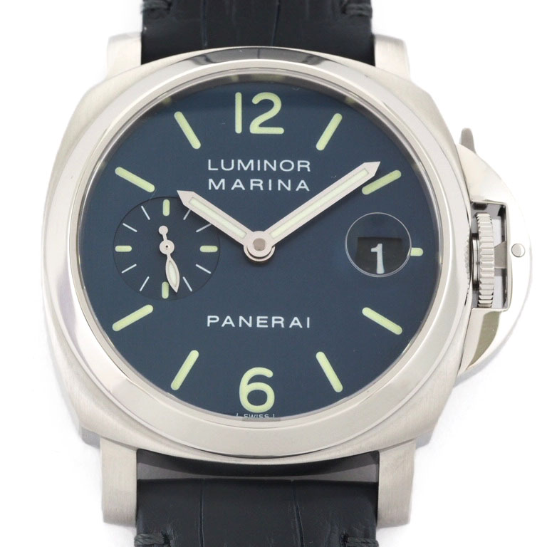 huge selection of 17210 49e89 パネライ PANERAI luminol marina PAM00119 Small second SS/ leather automatic car  F turn クロコベルト new article exchange finished