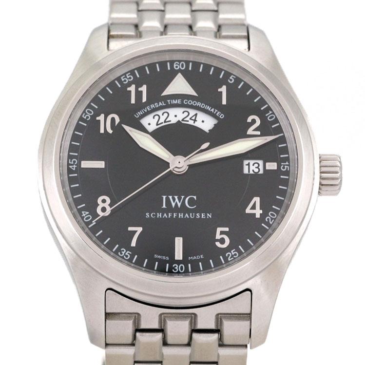 IWC スピットファイヤー IW325106 GMT SS オートマ UTC パイロットウォッチ 【リッチタイム】【中古】