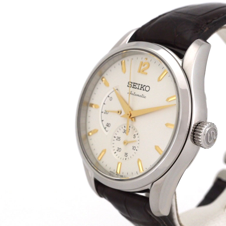 watch 21eea 58452 1,956-limited mechanical back スケ of the 60th anniversary of the  self-winding watch clock of the 135th anniversary of SEIKO SEIKO Presage  SARW027 ...