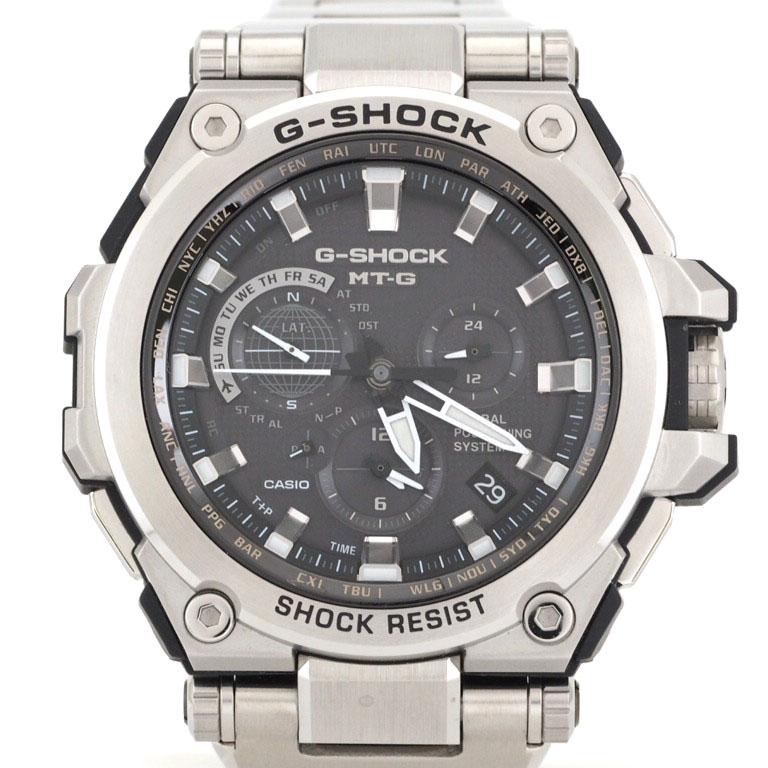カシオ CASIO Gショック G-SHOCK MTG-G1000D-1AJF GPSハイブリット/電波ソーラー SS クォーツ MT-G 【リッチタイム】【中古】