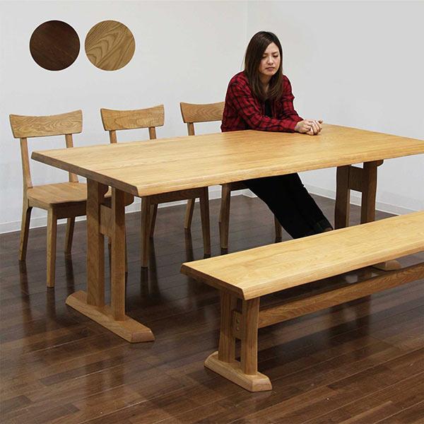 ダイニングセット ダイニングテーブルセット 5点セット 6人掛け 6人用 ベンチ付き シンプル 和風 モダン 木製 食卓セット 送料無料