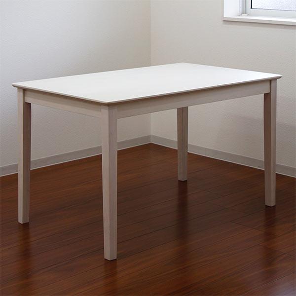 テーブル ダイニングテーブル 単体 テーブル幅120 天然木 ホワイトウォッシュ 白 北欧 モダン
