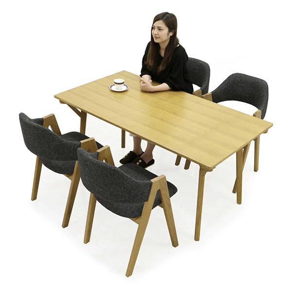 無垢 ダイニングテーブルセット ダイニングセット 5点セット 4人掛け 150x80 150テーブル ダイニングテーブル ダイニングチェア シンプル ナチュラル モダン 北欧 スタイリッシュ インテリア オーク材 無垢材 木製 家具通販 送料無料