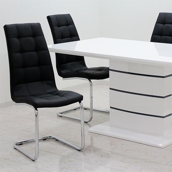 ダイニングテーブルセット ダイニングセット 5点 4人掛け ホワイト 白 鏡面 高さ74cm 160×85 大判 ハイバックチェア 北欧 モダン おしゃれ シンプル スタイリッシュ 家具送料無料