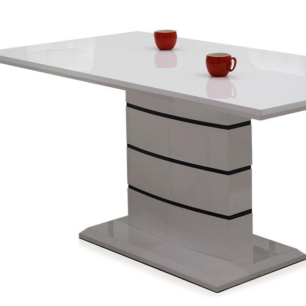 ダイニングテーブル 白 幅160cm ホワイト 160x85 光沢 清潔感 食卓テーブル モダン ツヤ ダイニングテーブル シンプル ベーシック 食卓 スタイリッシュ 重厚感 大判 テーブル 単品 4人掛け 4人用 シンプル エナメル塗装 鏡面