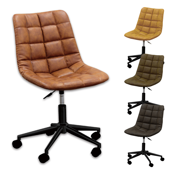 コンパクトながらも優しい曲線が身体にフィットします オフィスチェア おしゃれ 大人 勉強椅子 学習チェア デスクチェア パソコンチェア モダン シンプル コンパクト 着後レビューで 送料無料 ガス圧昇降 ブラウン色 合成皮革 中古 キャスター付き