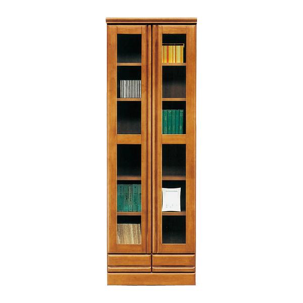 本棚・書棚ハイタイプ【幅60cm・高さ180cm】シンプルな正統派の本棚/大容量収納/可動棚・引出し付き