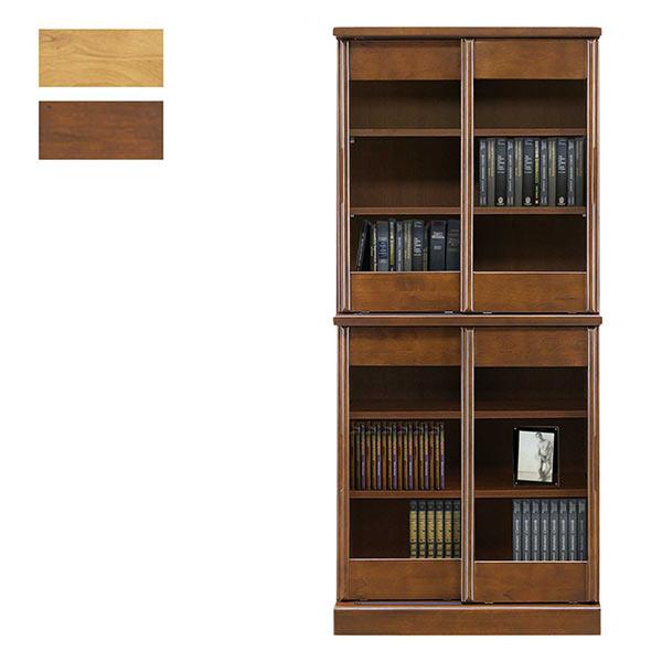 引き戸 収納 大容量 幅80cm 高さ180cm 本棚 スライド式 書棚 スライド書棚 日本製 収納家具 80幅 多目的収納 書籍 引き戸収納 扉収納 食器棚 飾棚 ディスプレイ おしゃれ