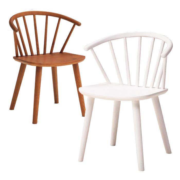 ウィンザーチェア ダイニングチェア 北欧 ダイニング チェア ブラウン色 ホワイト色 アッシュ無垢材 食卓椅子 ウィンザーチェアー ウィンザースタイル 1人掛け 1人用 木製チェア おしゃれ