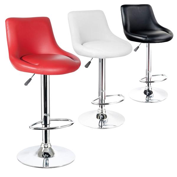 カウンターチェア バーチェア パステルカラー チェア イス 椅子 ブラック レッド ホワイト 回転 高さ調節 昇降式 スチール 脚 ステッパー付き 背もたれ付き 可愛い シンプル おしゃれ モダン 送料無料