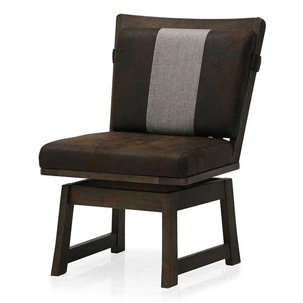 和風チェア 回転式 ビンテージ 1人掛け椅子 肘無し回転椅子 高級感 ビンテージ調合皮レザー 和風 和モダン 和テイスト 回転 ダイニングチェア ヴィンテージ 回転椅子 和風ダイニングチェア 無垢材 送料無料