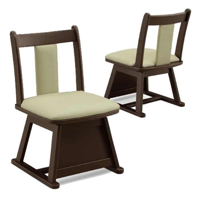 和風 和モダン ダイニングチェア 回転チェア ラバーウッド 回転式 イス 回転椅子 こたつ椅子 合成皮革 ダイニング用 和 木製 1脚 送料無料
