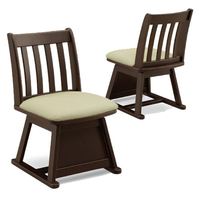 和風 和モダン ダイニングチェア 回転チェア 木製 回転式 イス 回転椅子 合成皮革 ダイニング用 和 こたつ椅子 木製 1脚 送料無料