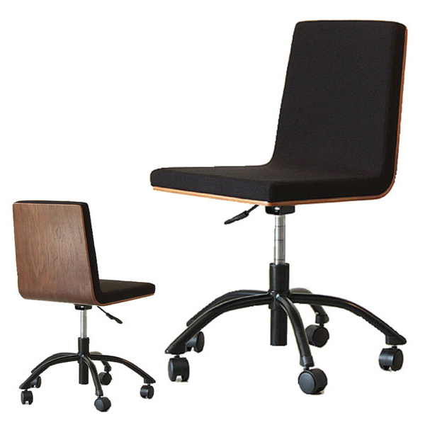 チェア デスクチェア チェアー 椅子 イス オフィス 昇降 無段階調節 キャスター付き おしゃれ シンプル ナチュラル モダン 北欧 木製 ウォールナット 送料無料