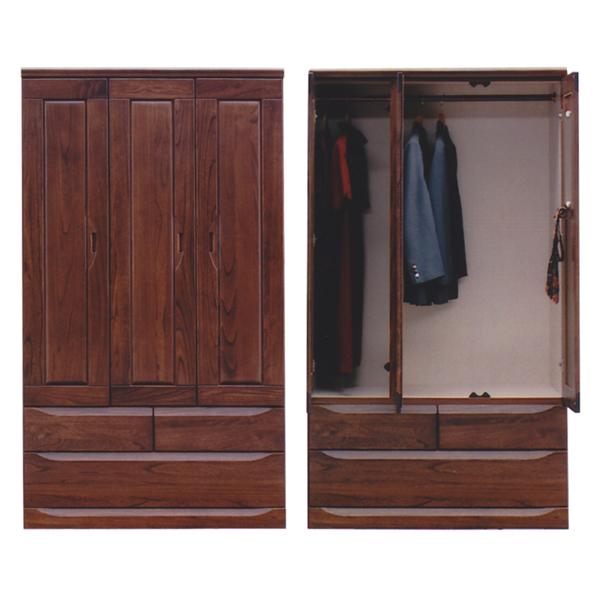 チェスト タンス ワードローブ 幅105cm 木製ロッカー 洋服タンス 衣類収納 完成品