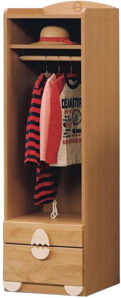 ワードロープ ハンガーラック 幅45cm 子供部屋 子供家具 キッズ家具 完成品 木製 送料無料