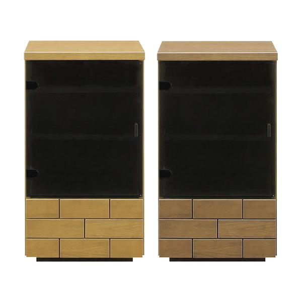 サイドチェスト 国産 幅44 選べる2色 ナチュラル ブラウン キャビネット サイドテーブル 完成品 リビングボード サイドチェスト シンプルデザイン 収納家具 モダンテイスト 日本産 送料無料