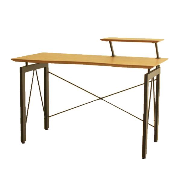 デスク テーブル 幅120cm 奥行60cm 120×60 120テーブル 長方形 パソコンデスク 書斎デスク 書斎机 収納棚付き シンプル ナチュラル モダン 北欧 木製 オーク 送料無料