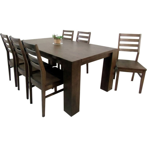 ダイニングテーブルセット ダイニングセット 7点セット 6人掛け 180テーブル 180×100 丈夫 頑丈 北欧 モダン シンプル 木製 無垢 送料無料