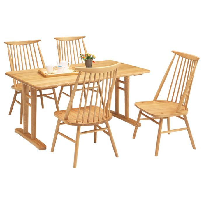 ダイニングテーブルセット おしゃれ 4人掛け ダイニング5点セット 高級感 木製 幅150cm 食卓セット 椅子4脚 縦桟 デザイナーズ 食卓 スタイリッシュ モダン 北欧 北欧家具 木製ダイニングチェア 送料無料